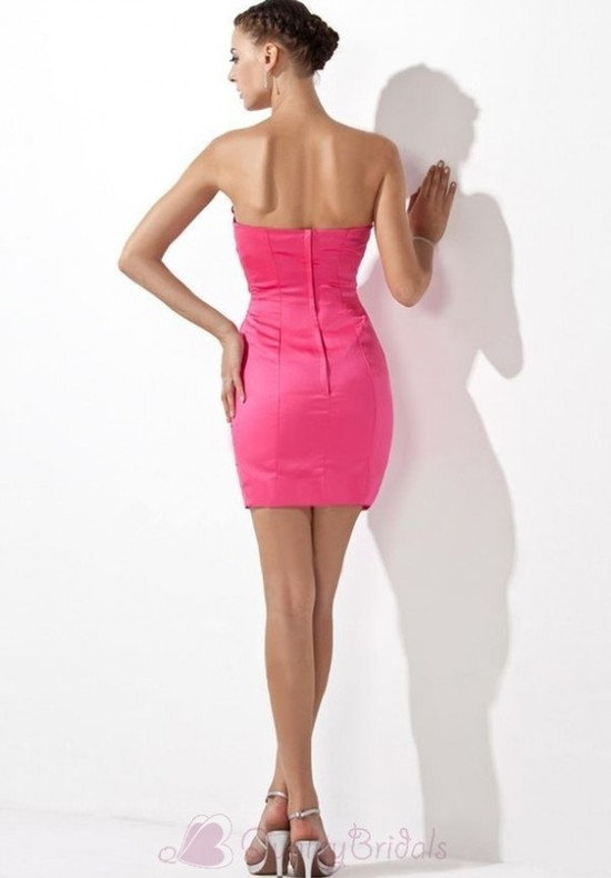 Strapless-Sheath-Short-Stretch-Satin-Cocktail-Dress-P3094
