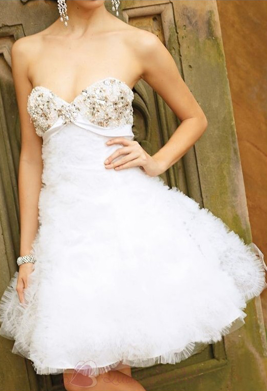 Strapless-Sweetheart-A-Line-Short-Organza-Prom-Dress-P3085