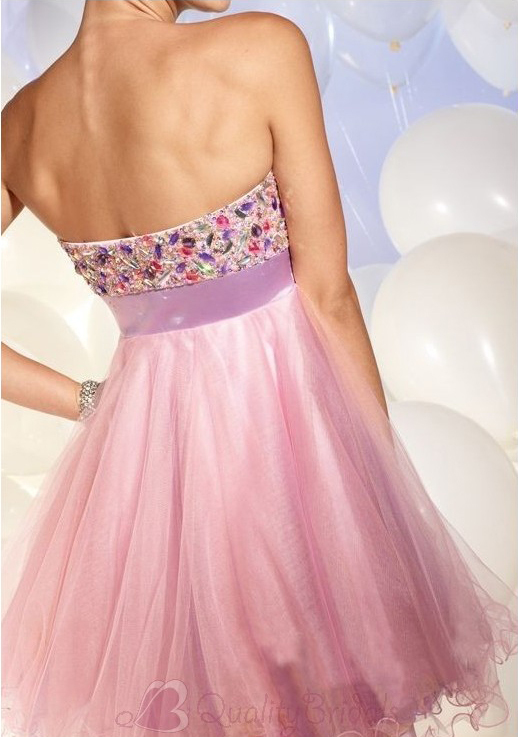 Strapless-Sweetheart-Empire-Short-Organza-Prom-Drdess-P3083