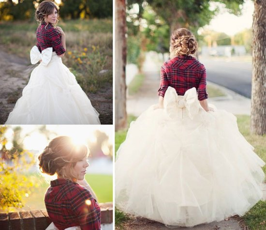 Winter Wedding Ideas Plaid Bridal Shrug