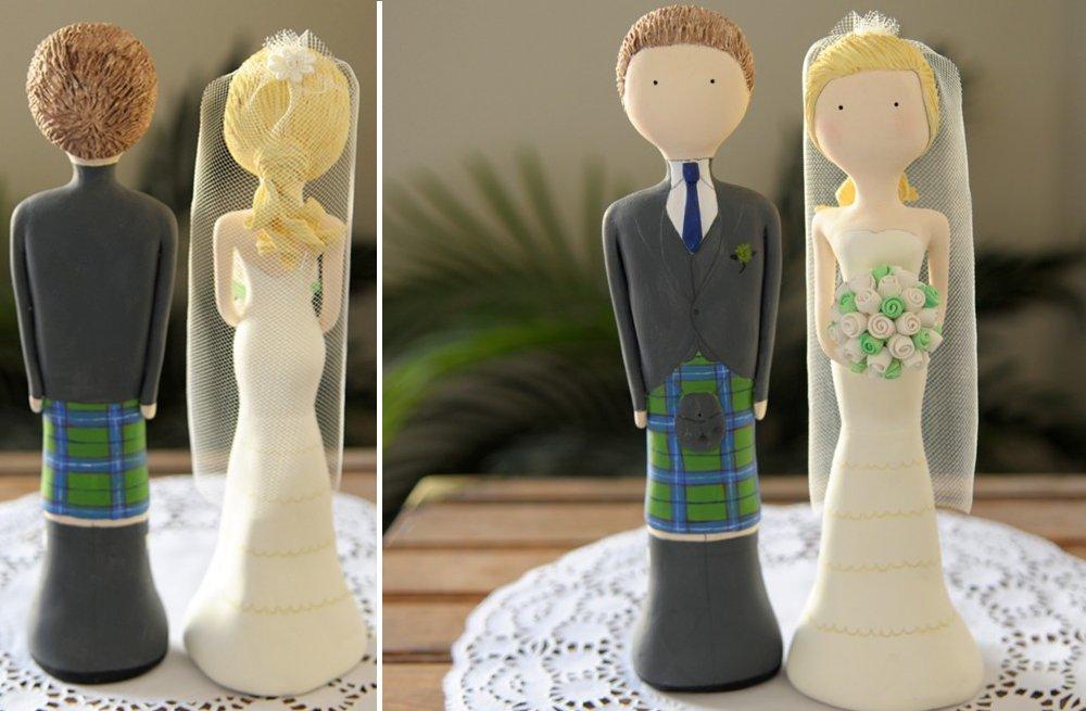 Cute-wedding-cake-topper-plaid-adorned-groom.full