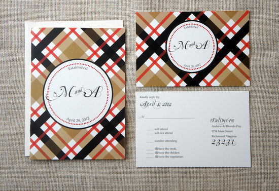 Classic Plaid Wedding Invitations