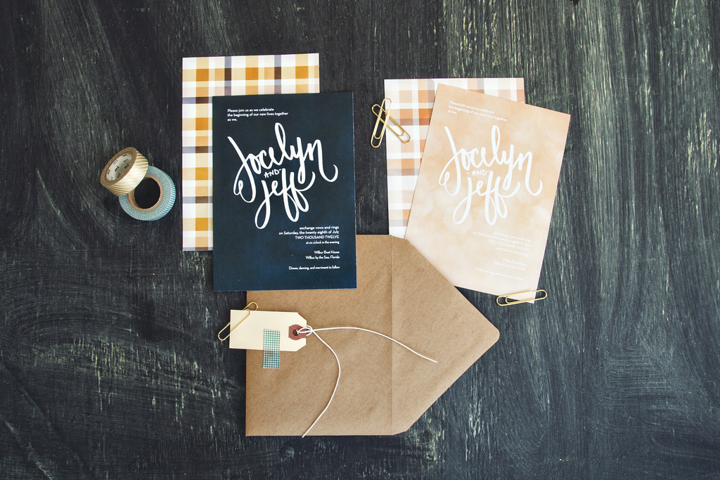 Modern Plaid Wedding Invitations