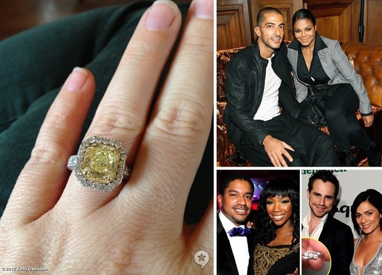 Celebrity Engagements End of 2012 Kelly Clarkson Janet Jackson