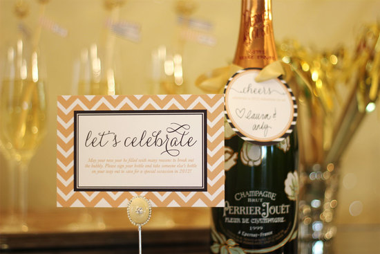 NYE Wedding reception signs