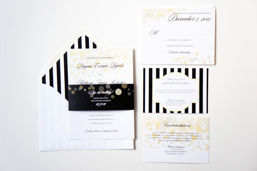 ELegant Wedding Invitations Perfect for NYE Weddings