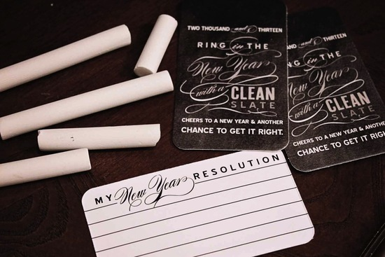 Fun Wedding Reception Stationery for New Years Eve