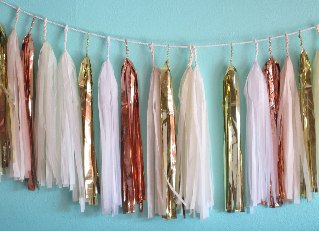 Festive Metallic Bunting for New Years inspired weddings