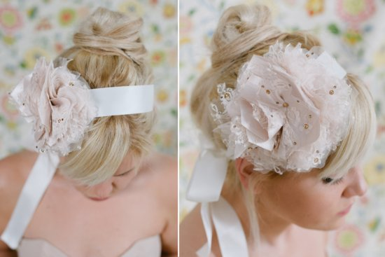 NYE Wedding Ideas Bridal Headband with flower