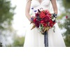 Rich-red-bridal-bouquet-with-navy-lace-ribbon.square