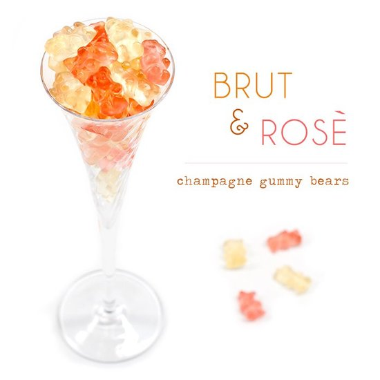Customized wedding candy Brut Rose Gummy Bears