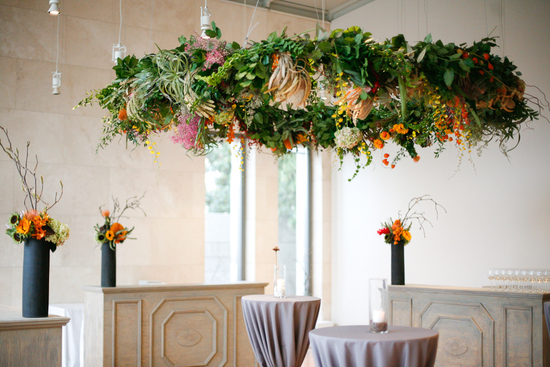 Enchanted Wedding Reception Decor Huge Floral Chandelier