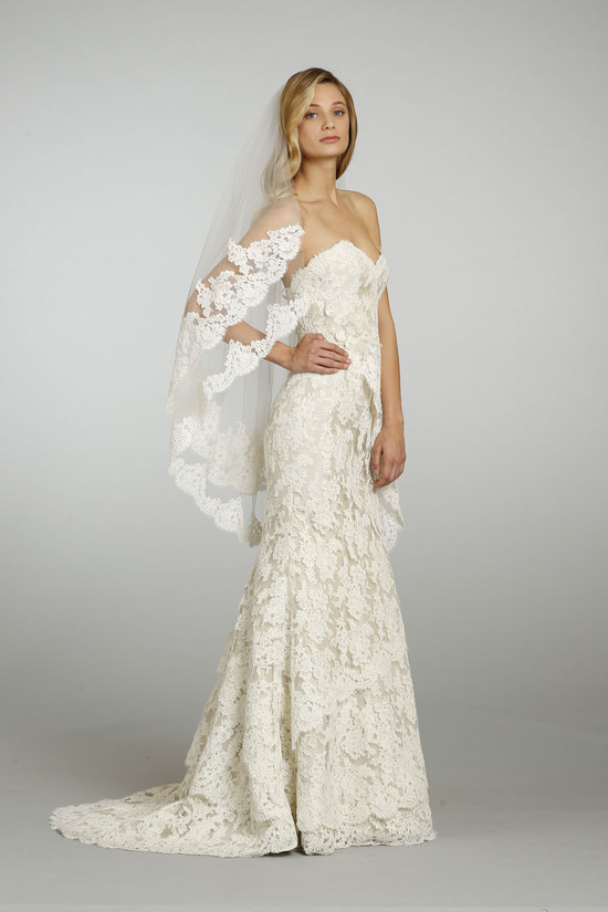 Spring 2013 Wedding Dress Alvina Valenta Bridal 9305 with veil