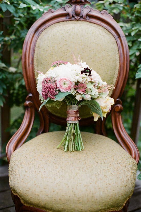 Beautiful Bridal Bouquet Dusty Rose Ivory Taupe