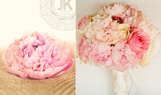 Pretty Pink Peony Wedding Flowers