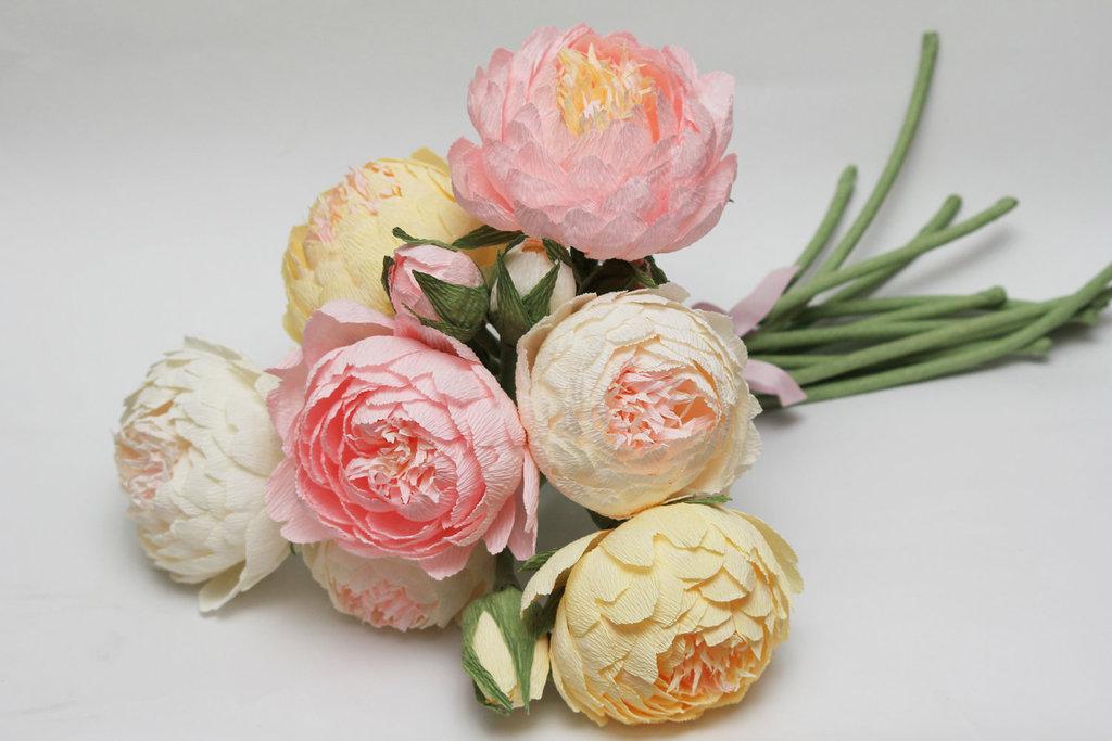 Как из бумаги сделать цветок пион
