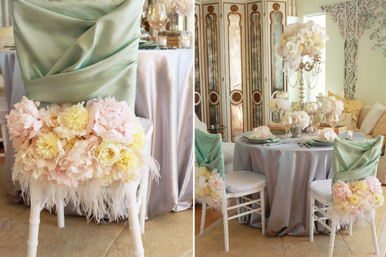 Peony Adorned Wedding Chairs