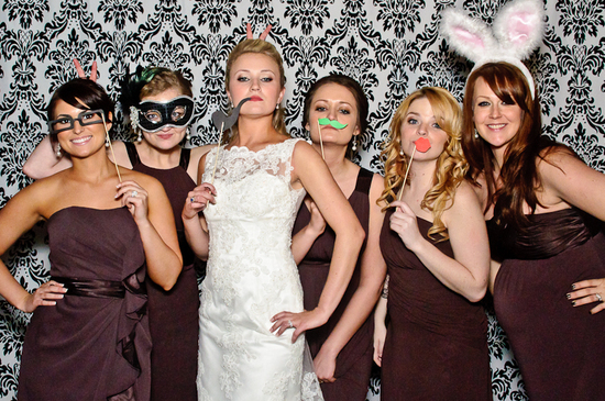 photo of Wild Times in the Wedding Reception Photo Booth