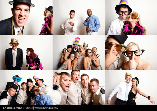 Big Glasses and Bowas for the Wedding Reception Photo Booth
