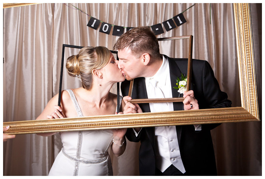 Bride Groom Kiss in Photo Booth