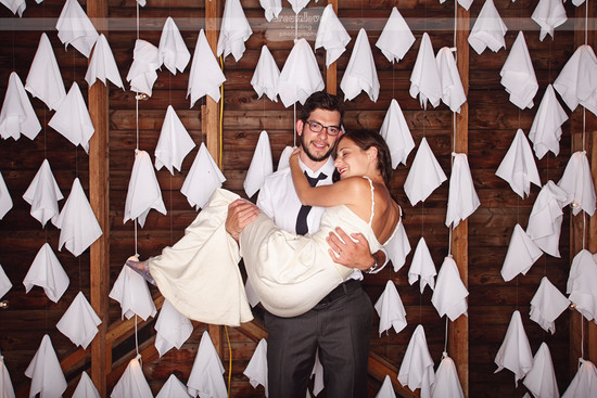 Rustic Barn Wedding with Unique Photo Booth Backdrop