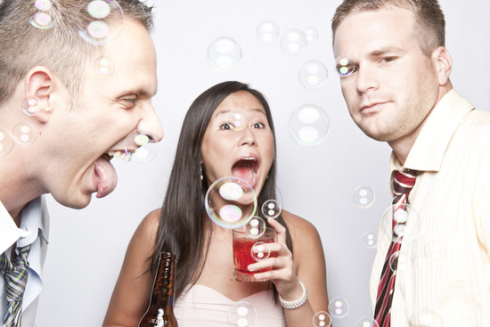 Bubbles for Wedding Photo Booth Props