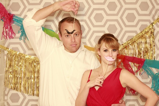 Wedding Guests Goof Off in Photo Booth