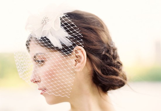 Classic Bridal Veil Birdcage Hair Accessory 2