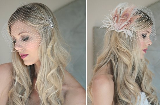 Classic Bridal Veil Birdcage Hair Accessory 5