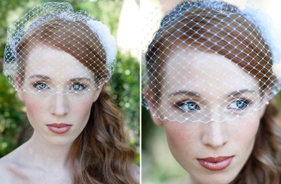 Classic Bridal Veil Birdcage Hair Accessory 6