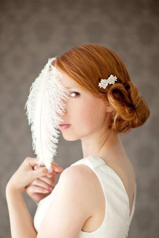 Low Vintage Twist Wedding Hairstyle