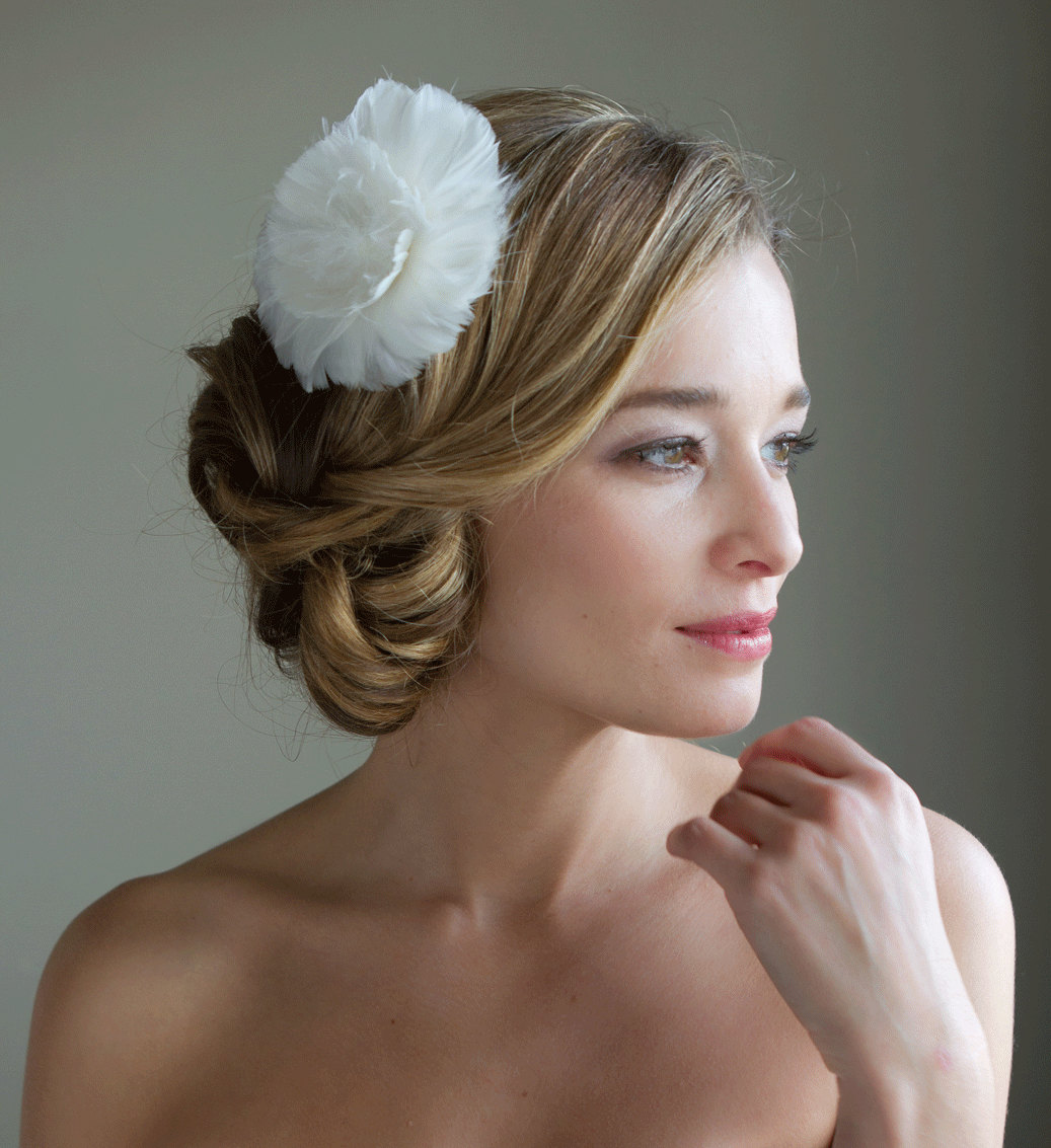 Twisted bridal updo low on side - Chignon original ...