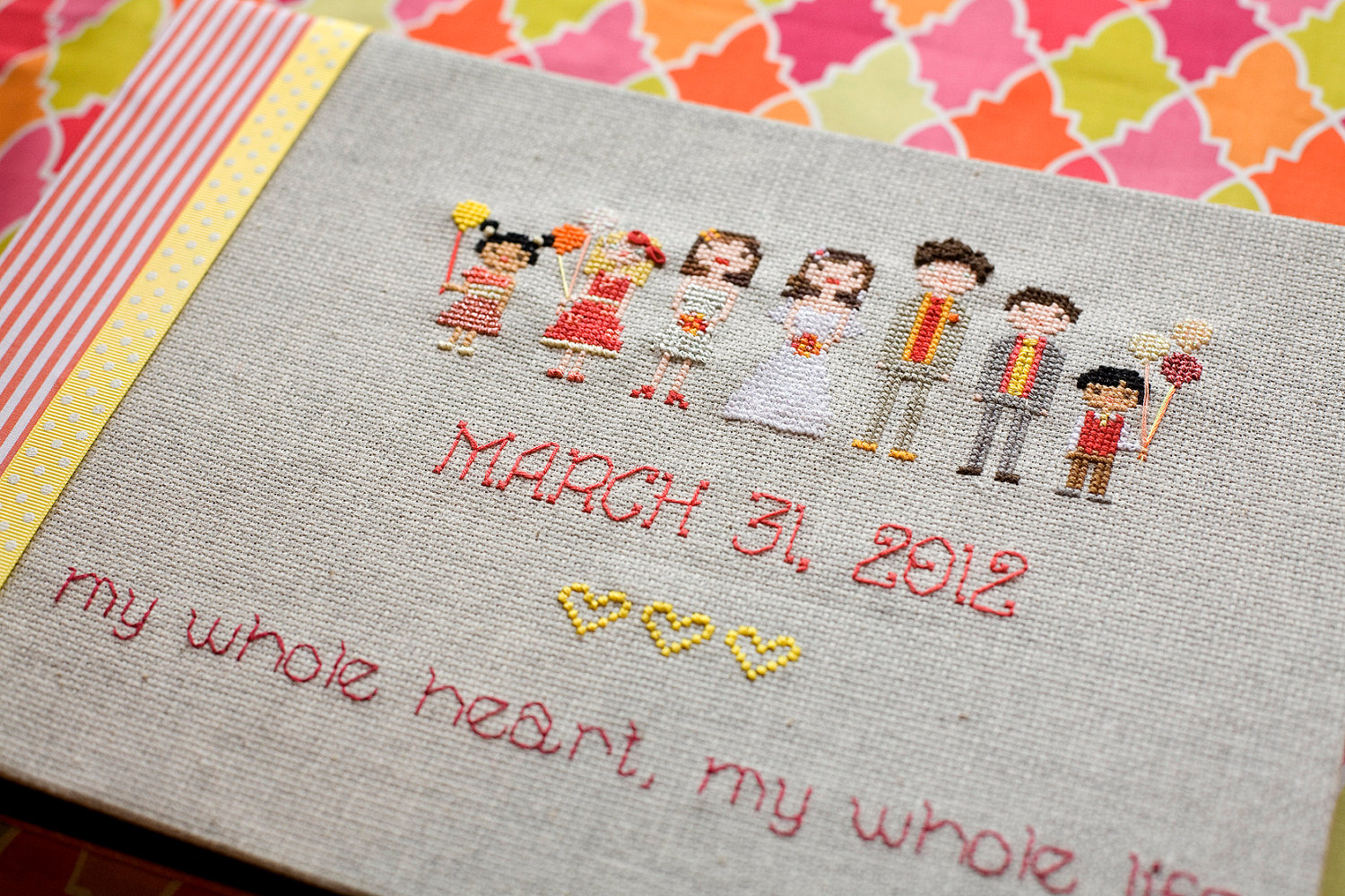 Wedding-guest-book-stitched-bridal-party.original
