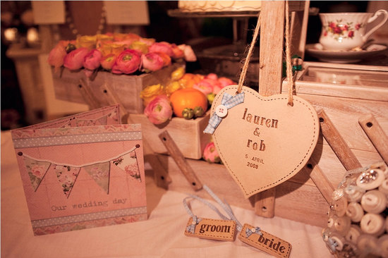 Rustic Stitched Wedding Reception Decor