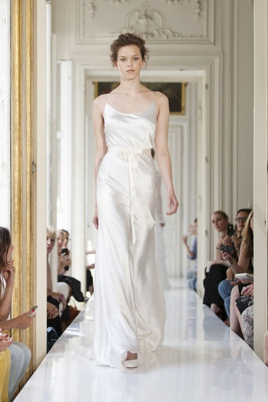 2013 Silk Wedding Dress with Spaghetti Staps Edouard