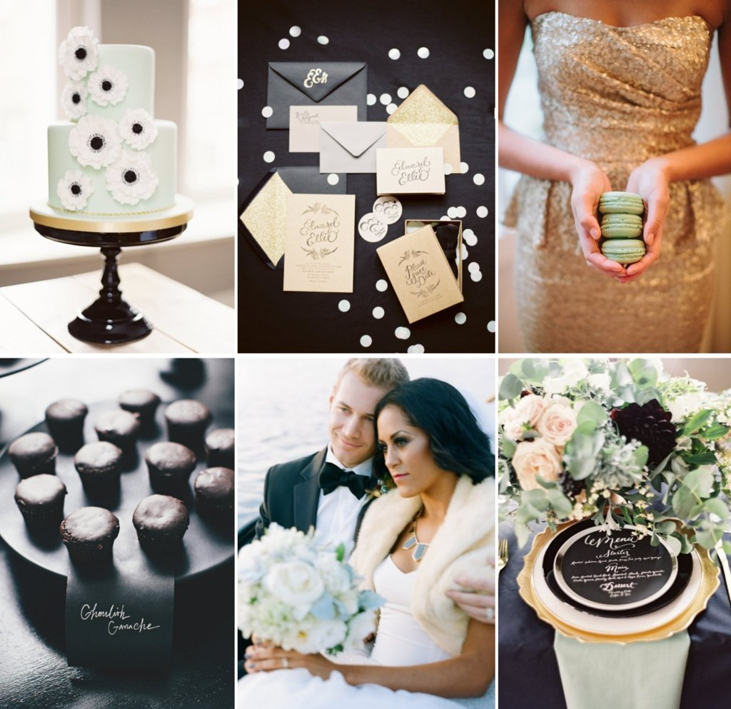 Wedding-colors-gilded-black-tie-with-cool-mint-green-inspiration.full