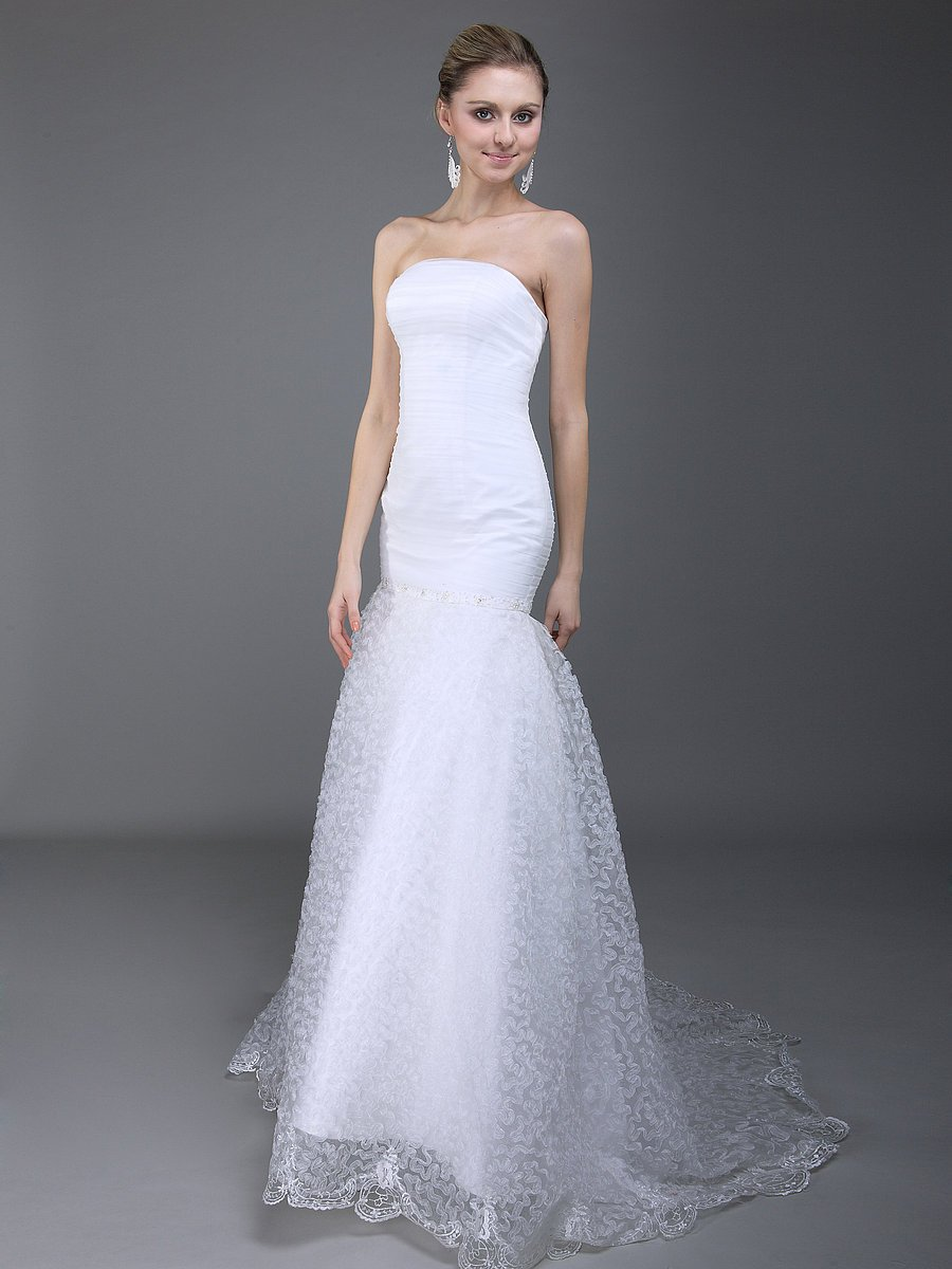 Affordable-wedding-gown-strapless-mermaid.full
