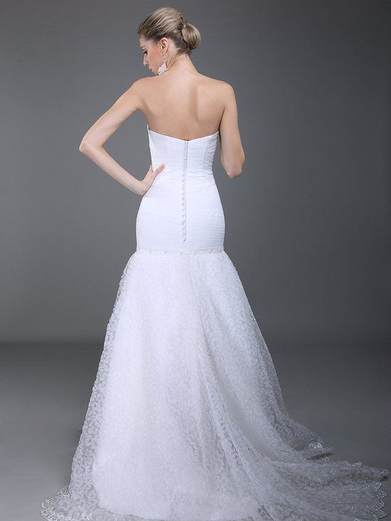 photo of Affordable Wedding Gown Strapless Mermaid