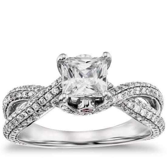 photo of Monique engagement rings for blue nile Twist Trellis