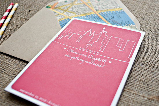 City Invitations for Wedding