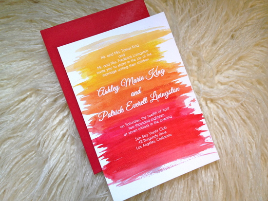 Bright and wild wedding invitations