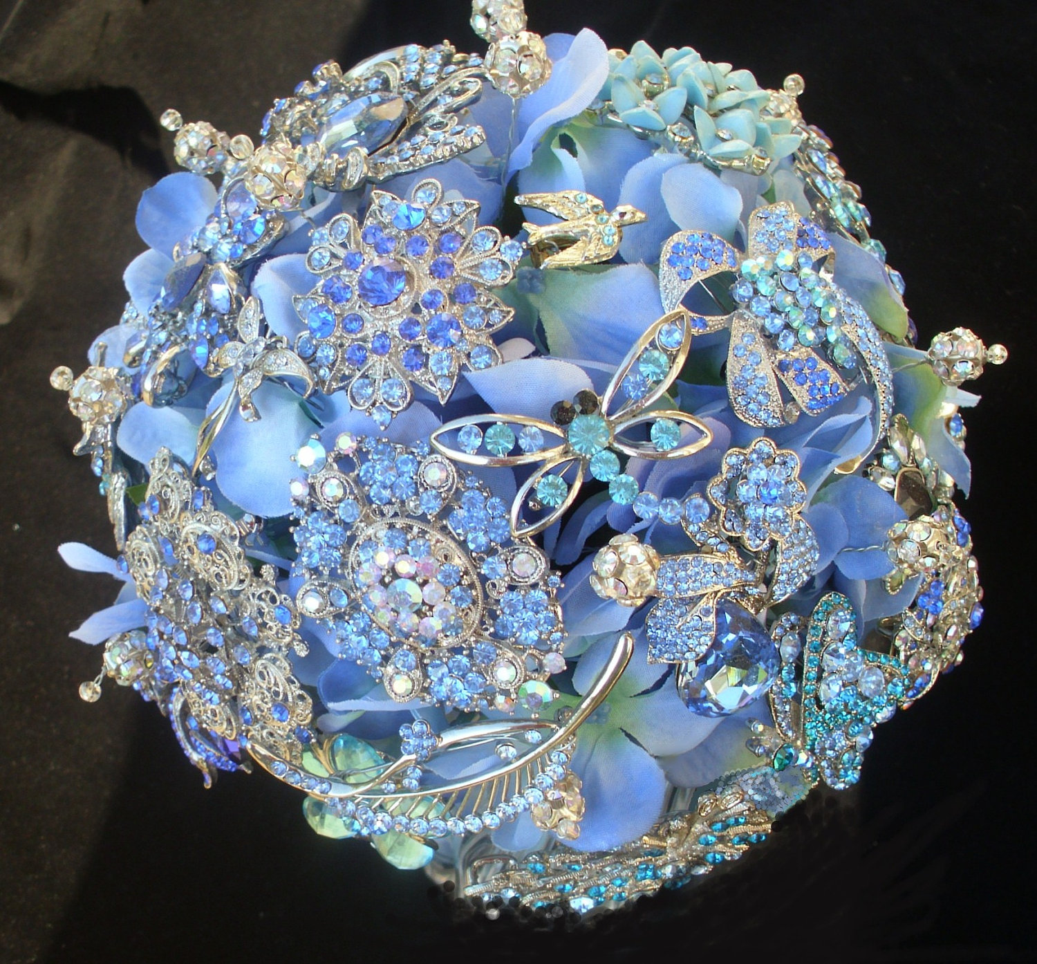 Southern Blue Celebrations: Blue Wedding Bouquets Ideas