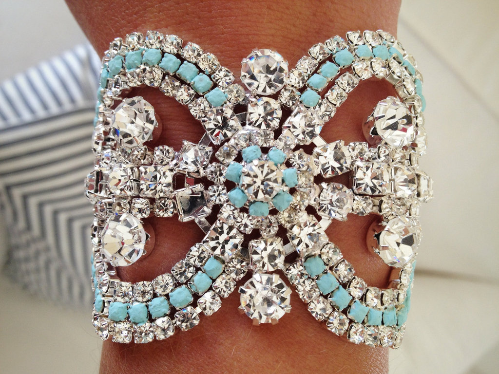 Rhinestone Bridal Cuff Something Blue