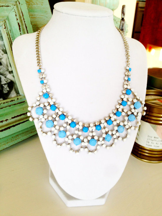 Something Blue Statement Necklace