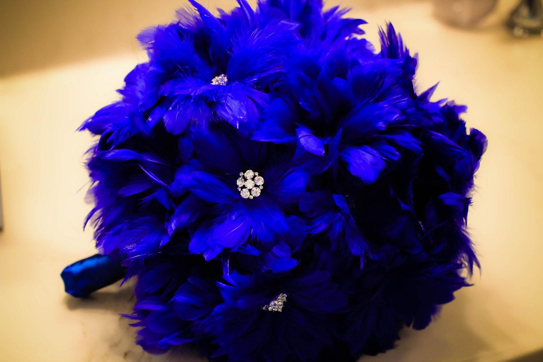 Cobalt Blue Wedding Bouquet 84