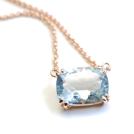 Aqua Marine Wedding Necklace