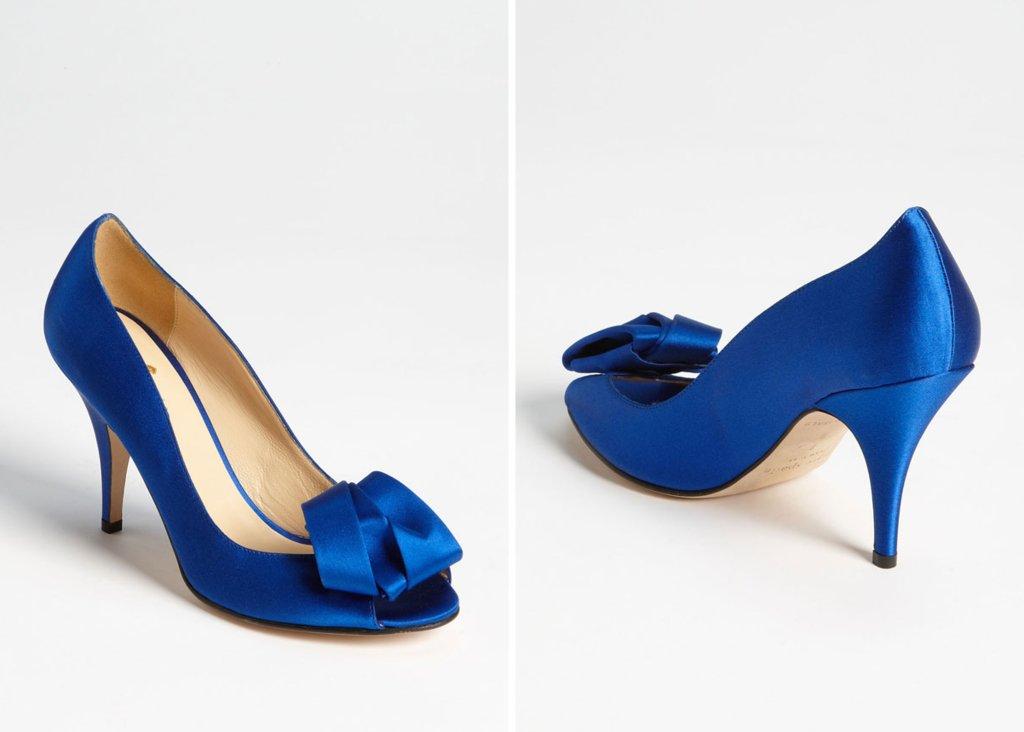 Navy Satin Wedding Shoes Kate Spade