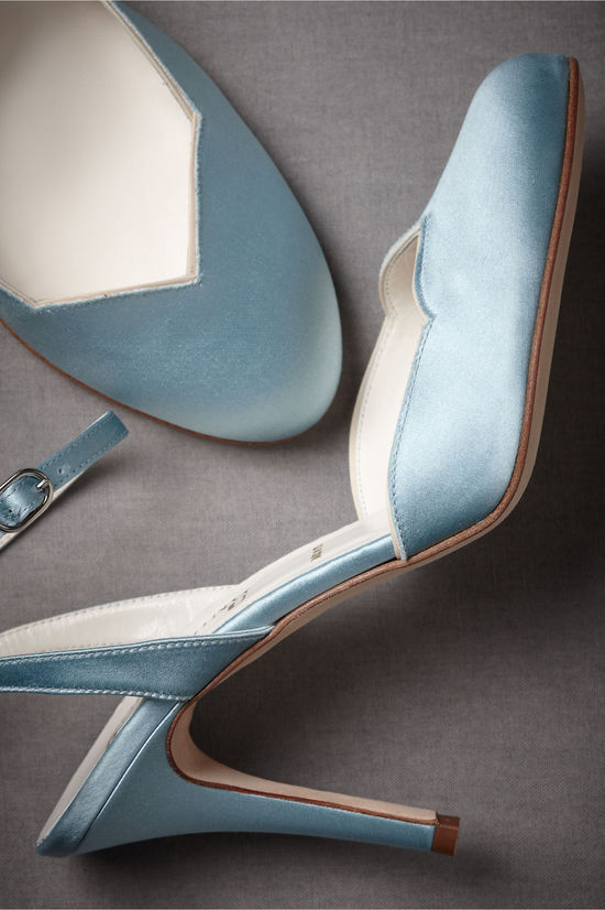 Powder Blue Satin Wedding Shoes