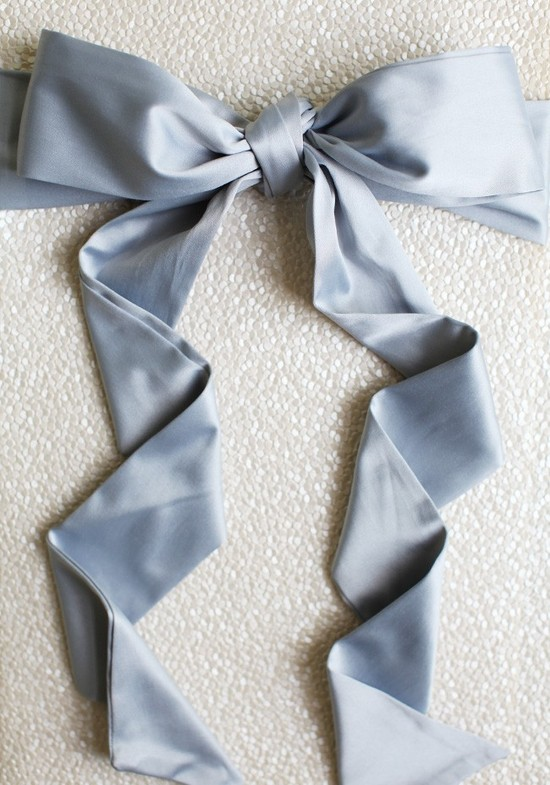 Gray Blue Bridal Sash