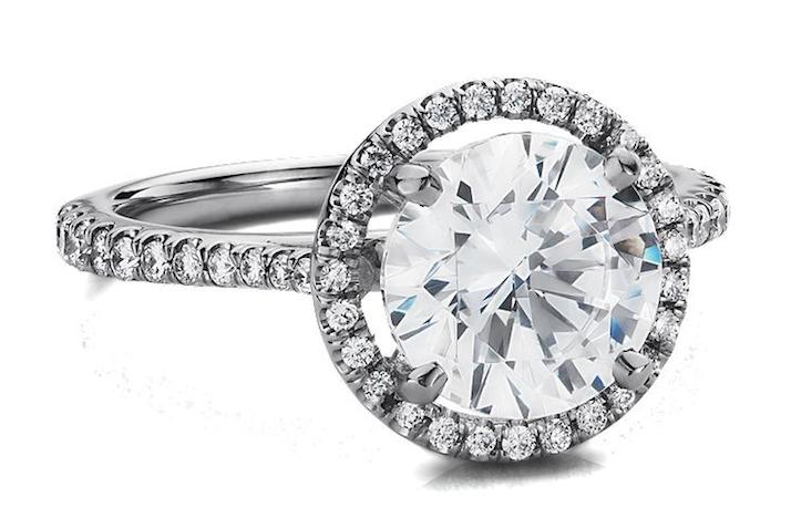 Blue Nile Halo Diamond Engagement Ring Blue Nile Engagement Rings